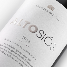 Rotwein Alto Siós etikett |  Costers del Sio Weingüter