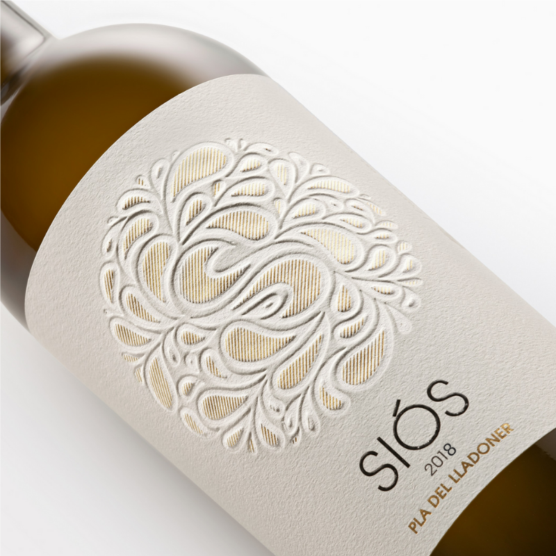 White wine Siós Pla del Lladoner label | Costers del Sió Winery
