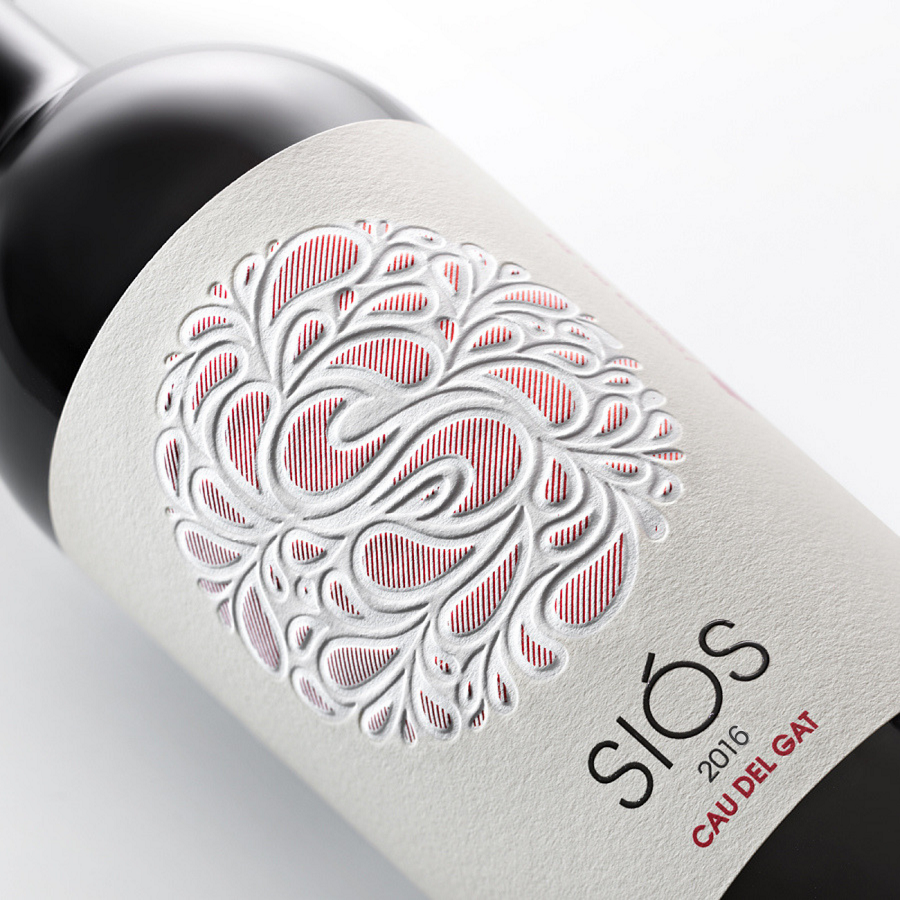 Wine Siós Cau del Gat label | Costers del Sió Winery