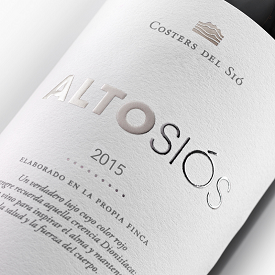 Red Wine Alto Siós label | Costers del Sió Winery